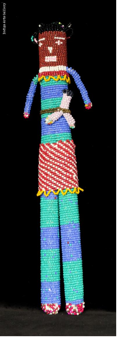 "Beaded ""Tall Doll"" with Baby from Capetown"