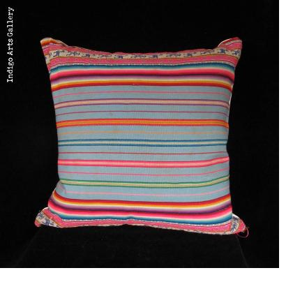 Vintage Textile Pillow from the Peruvian Highlands