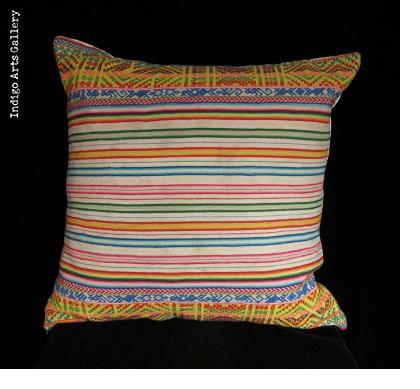 "Vintage ""Manta"" Textile Pillow from Highland Peru"