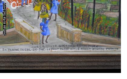 Sur la Route Arcahaie Saint Marc.  En Plaine du Cul-de-Sac.  Le Pont Cassé Situé Avant Source Puante