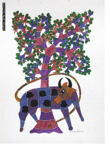 Tree of Life with Purple Cow