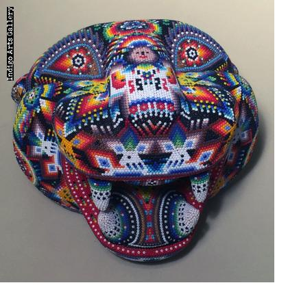 Large Jaguar Head/Mask - Huichol Beaded Sculpture
