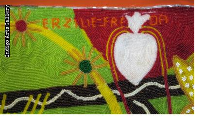 Erzulie Freda (Our Lady of Sorrows) Vodou flag