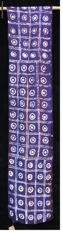 Batik Scarf on Silk by Gasali Adeyemo