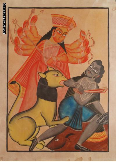 Kalighat Durga in Battle