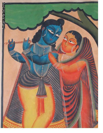 Kalighat Krishna and Gopi