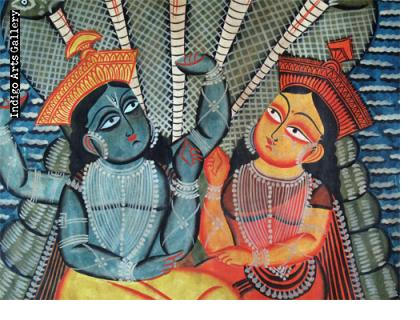 Krishna and Manasa