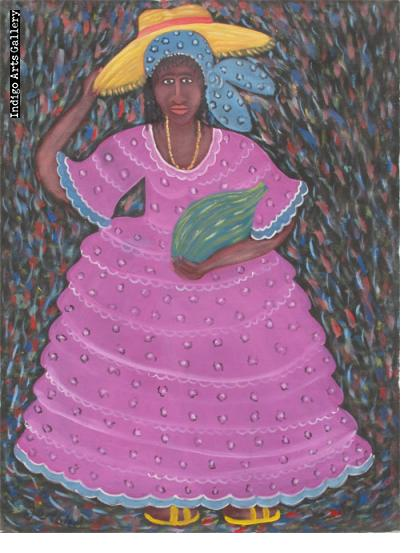 Woman in Purple Dress (for Erzulie)