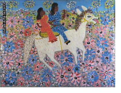 Two Riders on White Horse
