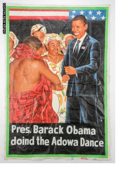 Pres. Barack Obama doind the Adowa Dance