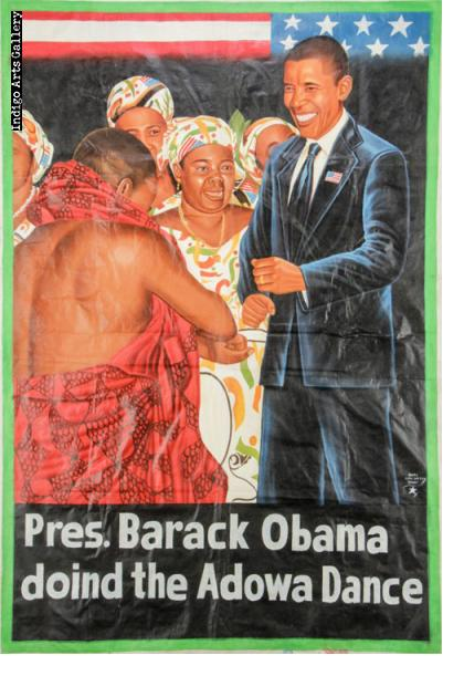 Pres. Barack Obama doind the Adowa Dance