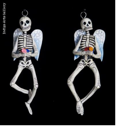 Angel Calavera Ornaments