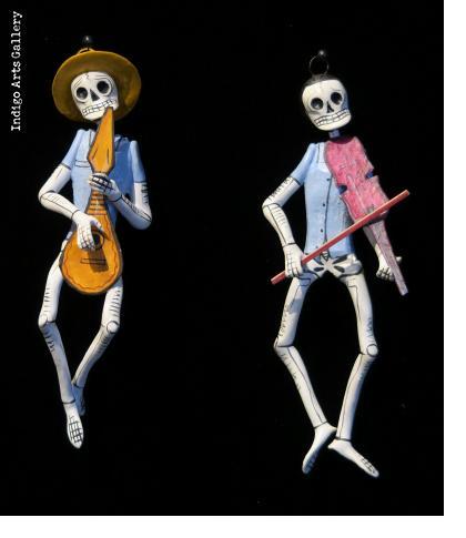Calavera Musico Ornaments