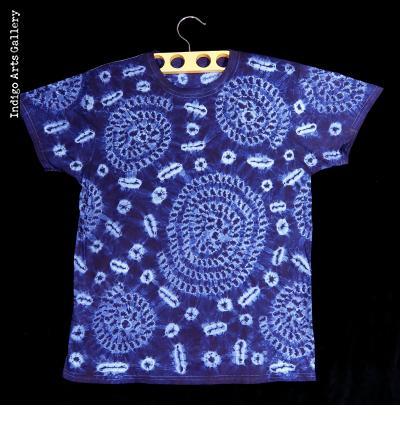 Indigo Tie-dye T-shirt by Gasali Adeyemo - Large