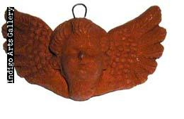 Medium Natural Clay Angel Face