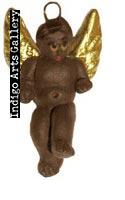 Painted brown tiny angel