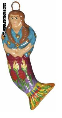 """La Sirena"" Guatemalan Mermaid Ornament"