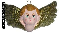 Medium Painted Clay Angel Faces