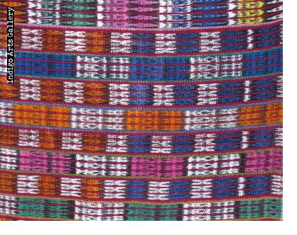"Jaspé Cotton and Synthetic Ikat ""Corté"" Skirt Fabric"