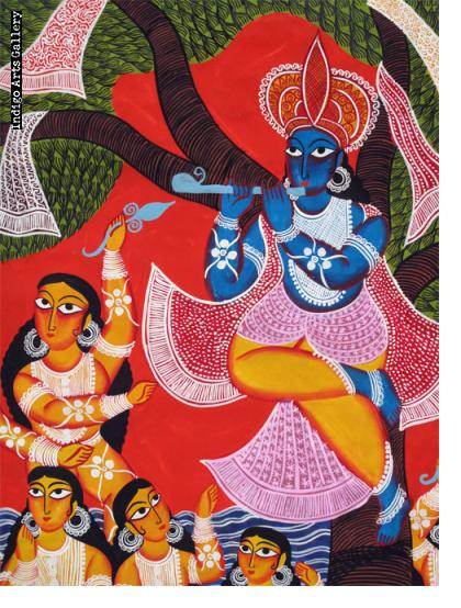 Lord Krishna and the Gopis