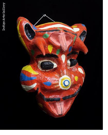 "Red ""Djab"" Carnival Mask"