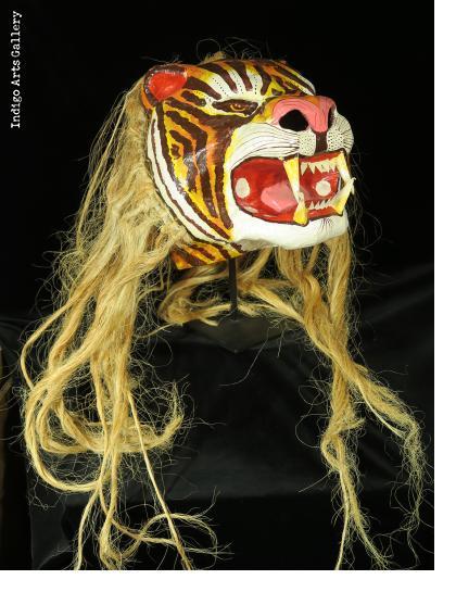 Tiger Carnival Mask
