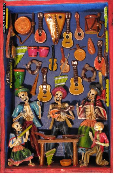 Skeleton Music Shop - Retablo