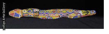 Large Huichol Beaded Snake