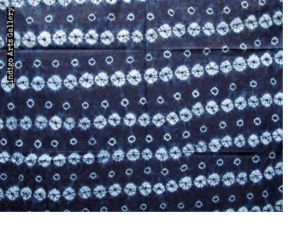 """Yoruba """"Adire Oniko"""" Indigo Tie-dye Cloth"""
