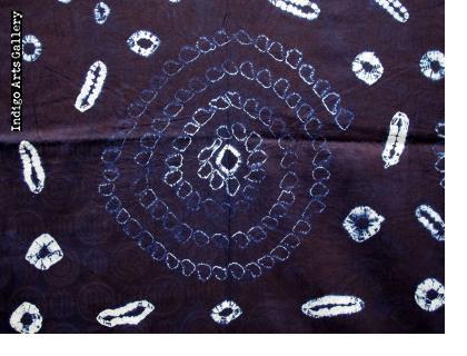 "Yoruba Indigo ""Moon and Star"" Tie-dye Cloth"