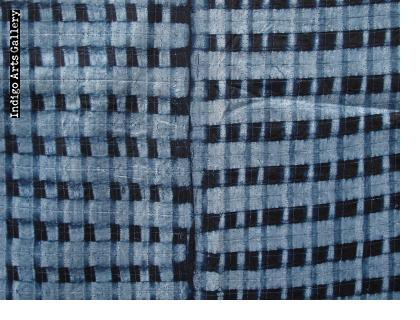 "Yoruba ""Adire Alabere"" Machine-Stitched resist Indigo-dyed Cotton Cloth"