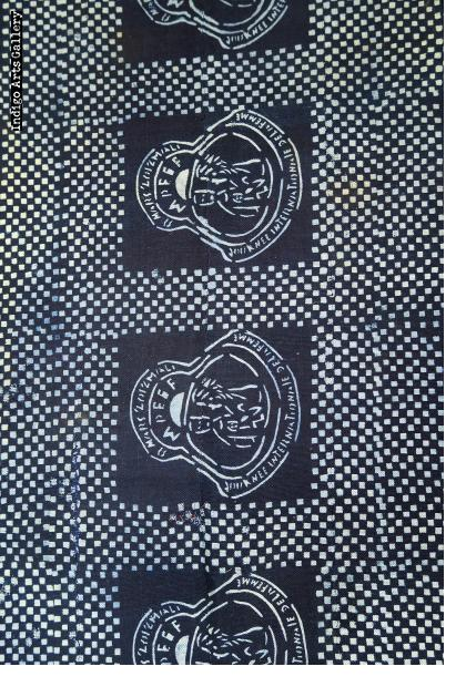 Indigo Batik strip-weave cloth for International Day of Women