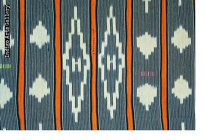Baule ikat strip-weave cotton fabric
