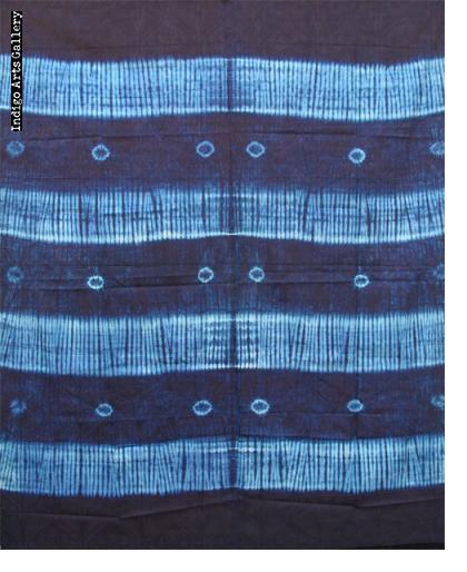 Yoruba Adire Oniko Indigo Tie-dye Cloth