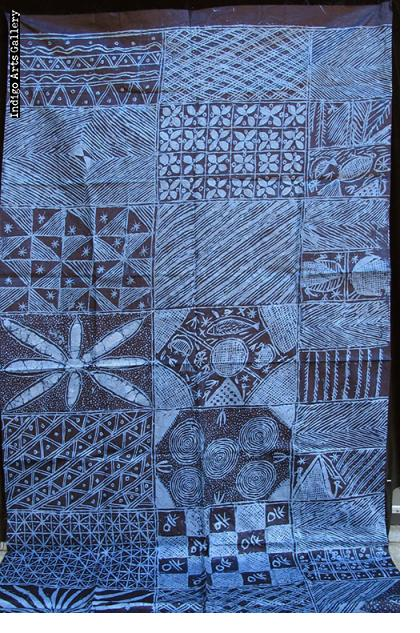 Yoruba Indigo Resist-dye Adire Eleko Cloth