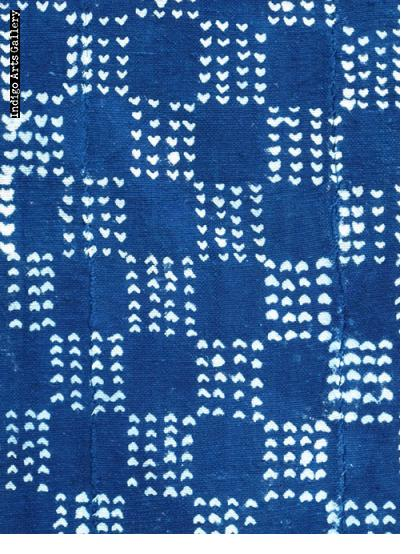 Vintage Indigo resist-dyed strip-weave cotton cloth