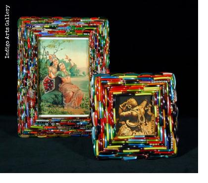 Indian Glass Bangle Picture Frames