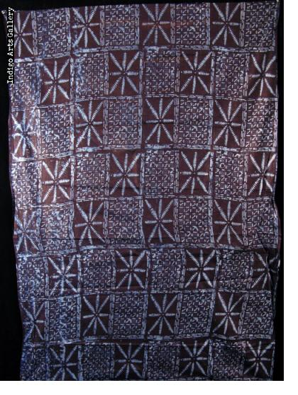 Adire Eleko Yoruba Resist-dyed Indigo Cloth