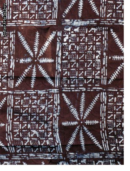 Adire Eleko Yoruba Resist-dyed Indigo Cloth