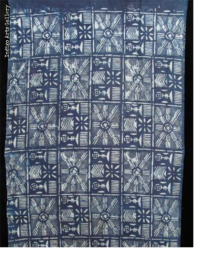 Burkina Indigo resist-dye Cloth