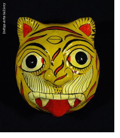 Papier Maché Tiger Mask
