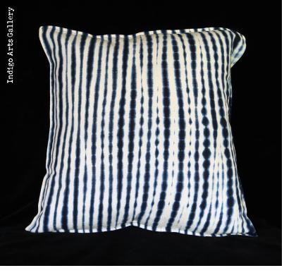 Resist-dyed Indigo Pillow by Aissata Namoko of Mali