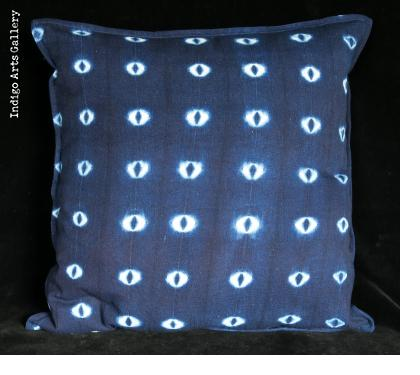 Tie-dye Indigo Pillow by Aissata Namoko of Mali