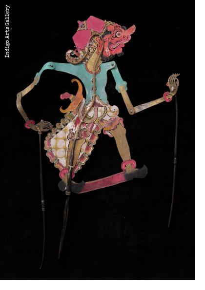 "Warrior - Antique ""Wayang Kulit"" Javanese Shadow Puppet"