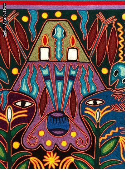 La Casa del Mundo - 'nierika' yarn painting