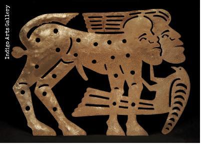 Man, woman/beast with Bird - Early Jolimeau masterpiece - back view