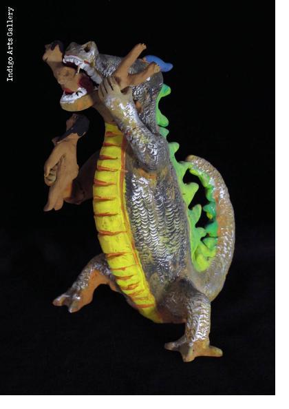Hungry Dinosaur - Vintage Sculpture