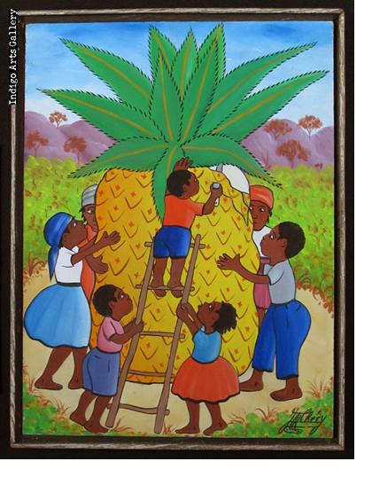 Children with Pineapple