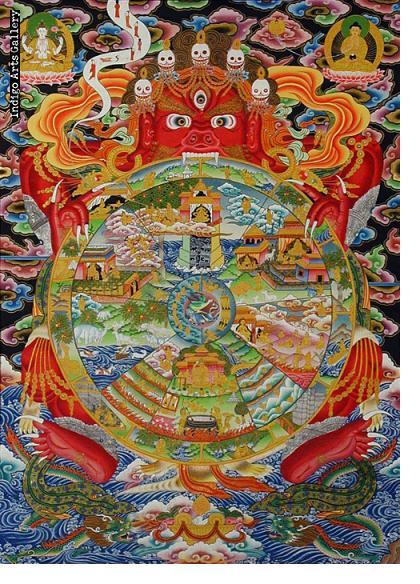 The Wheel of Life #2 Thangka painting