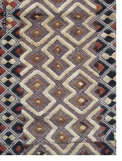 Shoowa Raffia Two-Panel Textile
